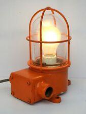 Orange Maritime Salvaged Passageway Bulkhead Light Wall Mount Lamp Navigation
