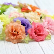 "30p/50Pcs Lot Fake Rose 2"" Artificial Silk Small Flowers Heads For Crafts Decor"