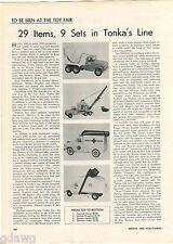 1960 ADVERT Tonka Toy Trucks Article Cement Mixer Rescue Squad Sanitary Trash