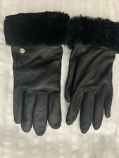 UGG AUSTRALIA SOFT LEATHER SHEEPSKIN GLOVES CASHMERE LINED BLACK M