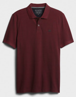 Banana Republic Men's Short Sleeve Birdseye Organic Cotton Pique Polo Shirt Rust