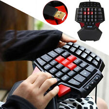 T9 USB Wired Professional Singlehanded Mechanical Gaming Keyboard Mini Keypads