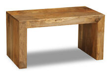 LIGHT SOLID MANGO SMALL OPEN COFFEE TABLE (H38L)
