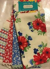 ✨PIONEER WOMAN VINTAGE FLORAL CLASSIC CHARM WILDFLOWER KITCHEN TOWELS SET OF 4✨