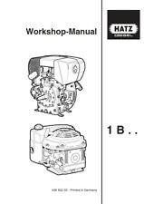 More details for hatz diesel engine 1b 20 27 30 40 50 workshop service manual reprint comb bound
