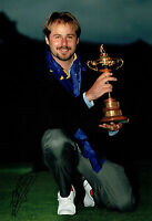 Victor DUBUISSON SIGNED Autograph 12x8 Photo AFTAL COA Ryder Cup Winner
