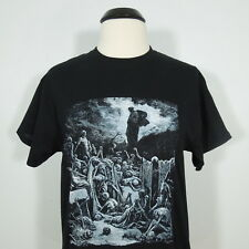 GUSTAVE DORE Ezekiel's Vision of the Valley of Dry Bones T-Shirt Black sz XL NEW