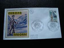 ANDORRE (francais) - enveloppe 1er jour 28/4/1979 (facteur) (cy63) andorra
