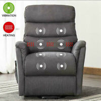 Electric Power Lift Recliner Chair with Heat Massage Vibration & RC for Elderly