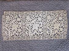 PANNEAU de FINE DENTELLE ANCIENNE XIXème Dite à Pièces Rapportées  49 cm x 21 cm