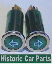 VERDE LH & RH Indicatore Frecce Lampeggiatori Allarme Luci con Icon completo