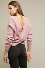 Anthropologie Women's Ribbed Twist-Back Pullover Sweater Size M P New !!