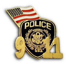 911 Federal Protective Service Police  with U.S. Flag  Lapel Pin Brand New NYPD