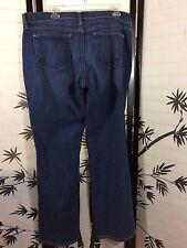 Old Navy Blue Dark Rinse The Flirt Mid Rise Straight Leg Jeans Size 16 L 40 x 33