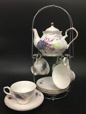 Coffee Tea Set Cup Teapot Saucer Porcelain Jingdezhen China 10 piece High Tea SY