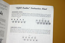 Vintage Ezee Knitter Knitting Loom's Instruction Manual is on paper manual paper
