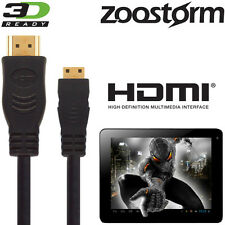 Zoostorm SL8 Mini2, Playtab Android Tablet PC HDMI Mini to HDMI TV 2.5m Cable