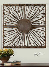 """STATELY 27"""" REAL WOOD BRANCHES DECORATIVE WALL ART RUSTIC NATURAL WOOD FRAME"""