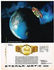 PUBLICITE ADVERTISING   1964   ETERNA- MATIC  montre DATO 3000