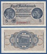 5 Reichsmark reichskreditkassen (1939-1944) kassenfrisch/UNC ro.553 a