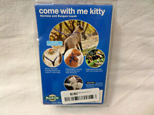 PetSafe COME WITH ME KITTY Cat Harness and Bungee Leash Blue Small up to 12 lbs