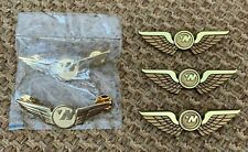 Northwest Airlines - Official In Flight Wing Pins - Set of Five