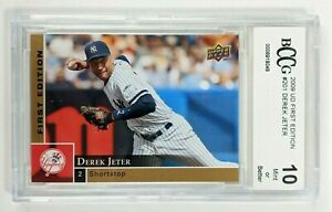 2009 Derek Jeter #201 Upper Deck First Edition Graded BCCG 10 Mint