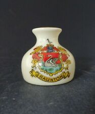 Arcadian China Model of a Vase with Saunton Crest