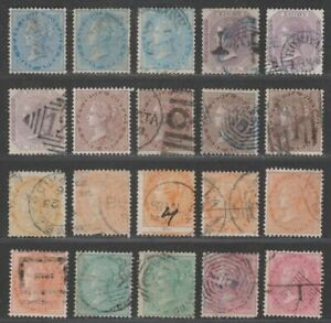India 1865 Queen Victoria Selection to 8a Used