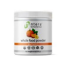 NTERA Pumpkin Whole Food Powder USDA Organic, Gluten-Free, NonGMO, Vegan, Kosher