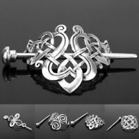 Celtic Knots Clips Hairpin Charm Metal Hair Stick Slide Women Girl Hair Jewelry