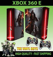 XBOX 360 E KYLO REN STAR WARS JEDI KNIGHT DARK SIDE STICKER SKIN & 2 PAD SKIN
