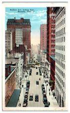 1932 Madison Ave looking East, Memphis, TN Postcard
