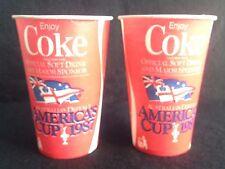 2 x Rare Coke Cups, Australia's Defence America's Cup 1987, Enjoy Coca-Cola