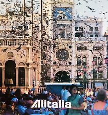 ORG VTG Large*Alitalia Airline*AD Art Poster ~VENICE,ITALY~Tourism TRAVEL Europe