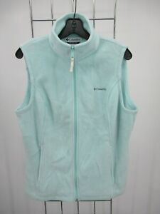 H1961 Women Columbia Full-Zip Winter Classic Fleece Vest Size L