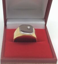 18ct Gold Gents' signet ring set with Diamond size T