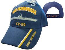 U.S. Navy USS Forrestal CV-59 First Indefense Embroidered Ball Cap Hat 550G