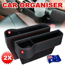 2x Car Seat Gap Slit Storage organiser Caddy Keys Phone Coins Box Case Holder AU