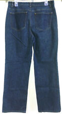 "Talbots 10 Dark Wash Straight Leg Mid-rise Stretch Jeans 30"" Inseam"