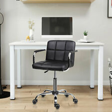 Cushioned Armchair Swivel PU Leather Office Dressing Studio Salon Barber Chair