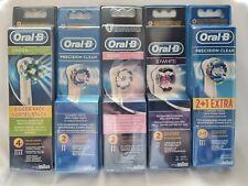 Genuino Nuevo Cepillo de dientes eléctrico Cabezales 3D Blanco Precision Clean Cruz
