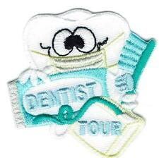 Girl Boy DENTIST HEALTH tooth Patches Crests Badges SCOUTS GUIDES dental visit