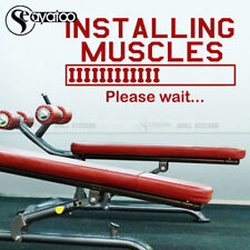 Muscles Quote Gym Vinyl Wall Sticker Sport Decal Fitness Bodybuilding Motivation
