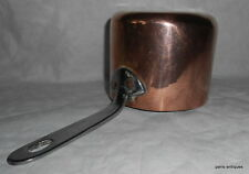 French Antique small dovetailed copper pan