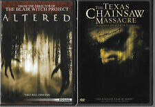 The Texas Chainsaw Massacre / Altered (DVD) 2 Creepy Horror Movies!!  GREAT!!