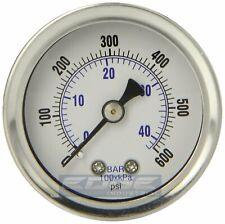 Liquid Filled Pressure Gauge 0 600 Psi 15 Face 18 Npt Back Mount