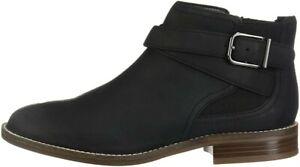 Clarks BNIB Ladies Chelsea Ankle Boots CAMZIN HALE Black Leather UK 5 / 38