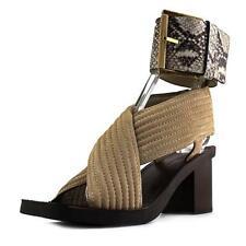 Sandalias y chanclas de mujer de tacón medio (2,5-7,5 cm) de ante talla 38