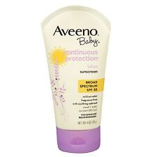 Aveeno Baby Continuous Protection Sunscreen Lotion, SPF 55 4 oz (112 g)